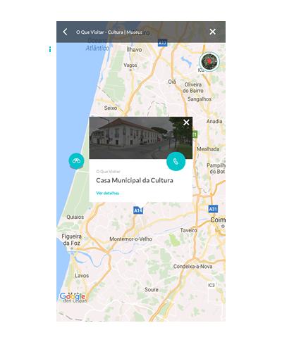Vista no mapa
