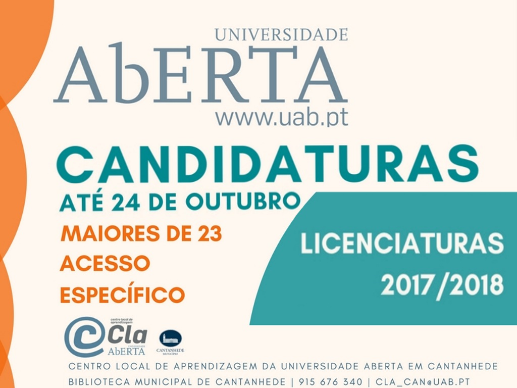 3.ª fase candidaturas Universidade Aberta